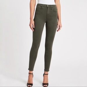 Frame   Le High Skinny Jeans in Deep Moss